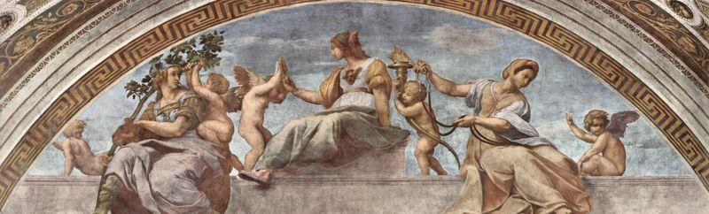 Virtudes Cardinales de Rafael Sanzio